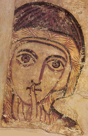 Tempera on plaster, Anonymous (Faras), 8th century, National Museum Warsaw