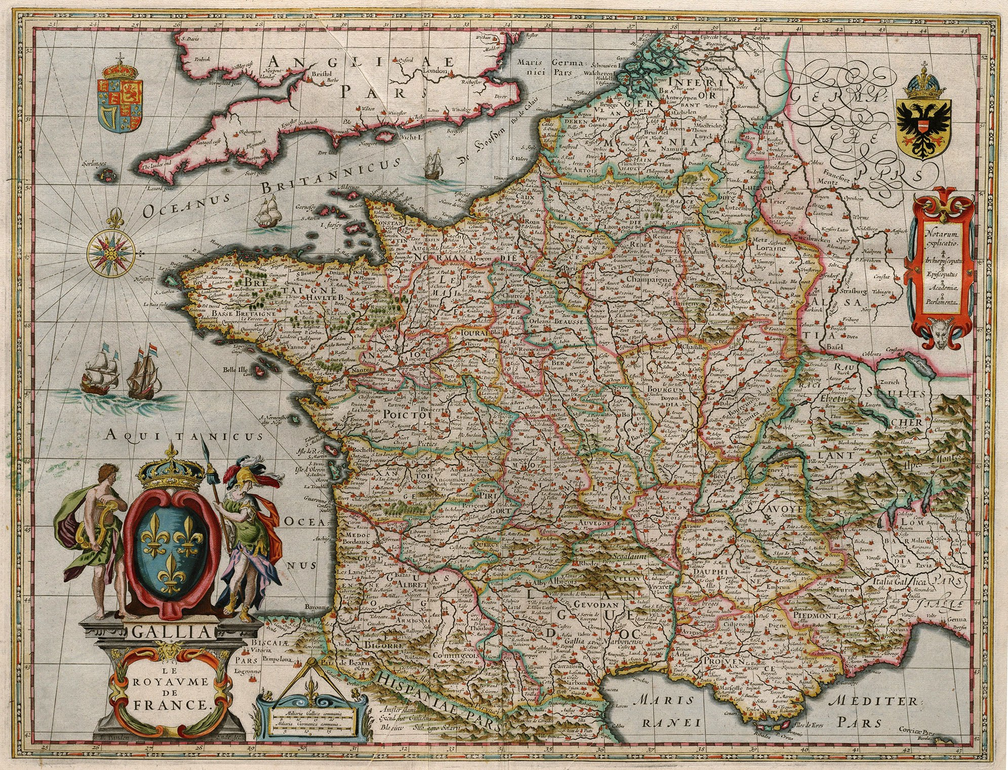 Blaeu 1649 Gallia Le Royaume de France