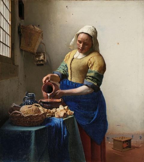 Fig 1 Vermeer Milkmaid