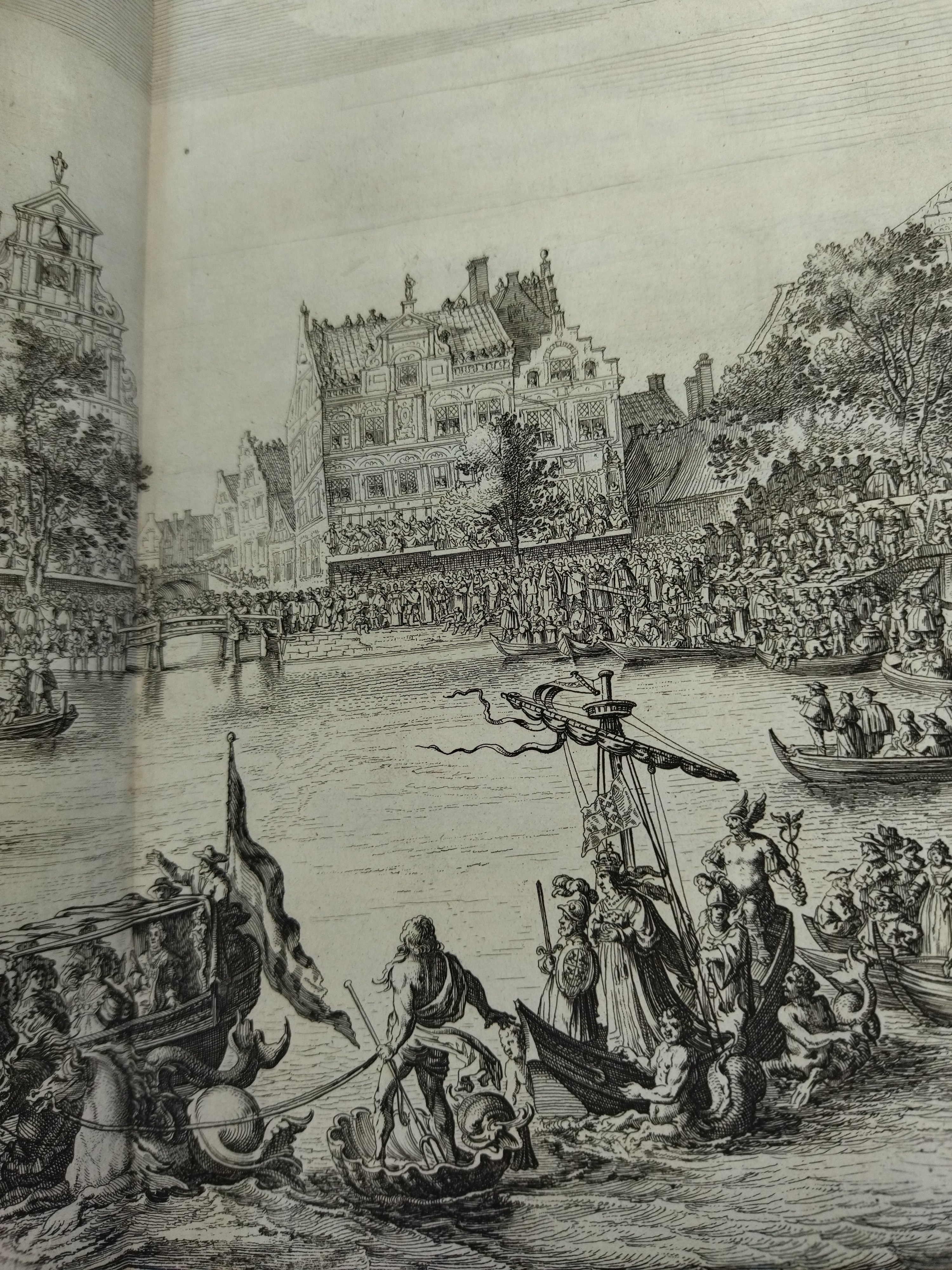 Fig 5 Neptune Mercury and the water goddesses on the Amstel Salomon Savery after Simon Jacobsz de Vlieger Etching Detail from plate 6 in Caspar Barlaeus Blyde inkomst der Maria de Medicis t Amsterda