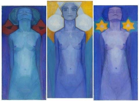 Mondrian Evolution Triptychon 1911