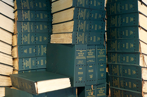 145 Volume of the 1959 World Book Encyclopedia printed in Braille