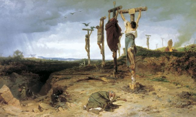 Crucifixion 2 Executed Slaves